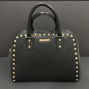 Michael Kors Sandrine Stud Black satchel